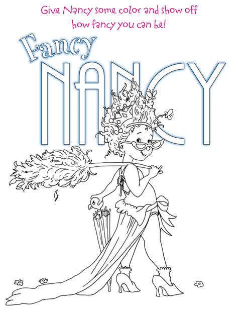 fancy nancy coloring pages free printable fancy nancy coloring pages az coloring pages