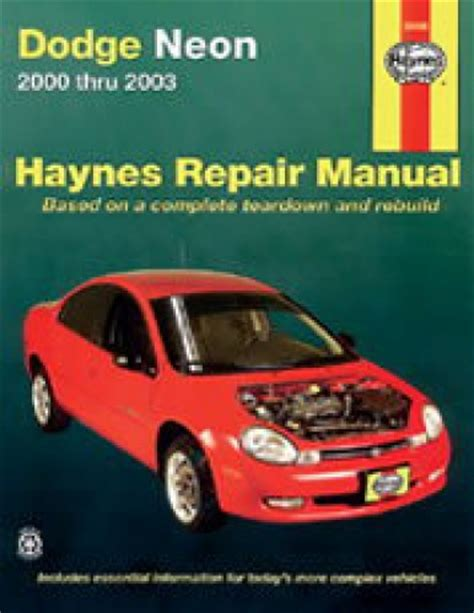 service manual old car manuals online 2003 dodge caravan haynes dodge neon 2000 2005 auto repair manual