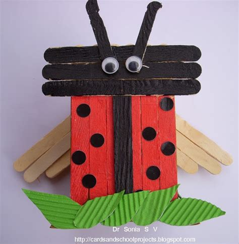 popsicle stick craft recycling ideas popsicle stick craft tutorial ladybird