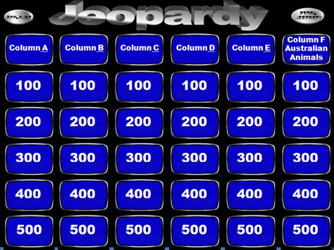 Jeopardy Powerpoint Templates Powerpoint Templates Free Jeopardy Template