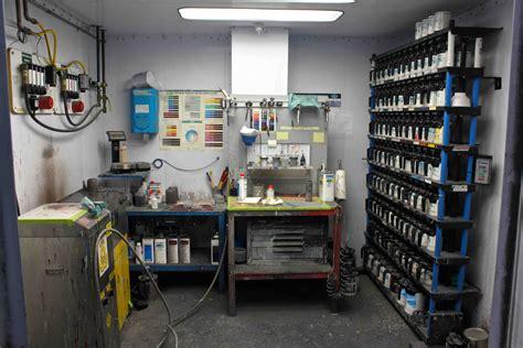 paint mixing room shop tour co motion part 3 paint and bikerumor