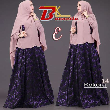 Gamis Modern Cantik 14 kokora 14 e baju muslim gamis modern