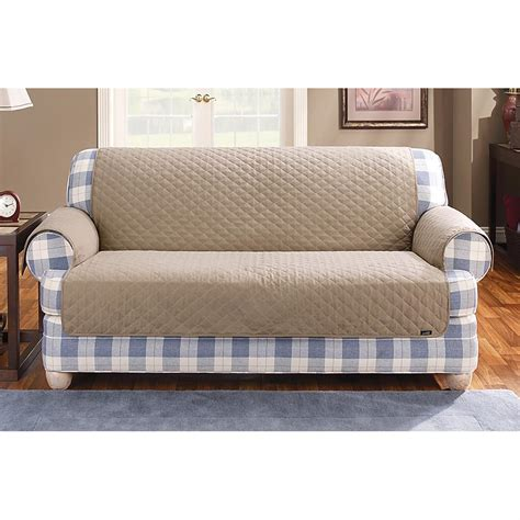 cotton couch covers surefit cotton duck furniture cover 222071 furniture