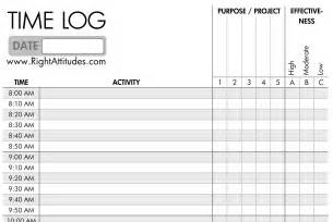 Time Log Sheet Template by Time Management 2 Time Logging Log Where Your Time