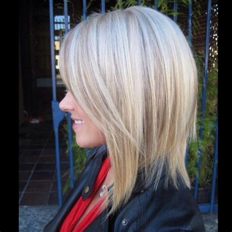 add depth and dimension to your hair with highlights slightly a lined long bob and added depth and dimension