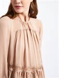 Dinar Maxy blusa in georgette di seta nudo quot dinar quot max mara