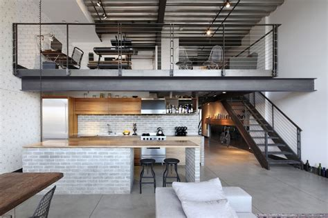 industrial loft decor ravishing industrial loft apartment decorating ideas presenting stairs kitchen place with