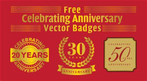 celebrating  years anniversary vector badges ai eps