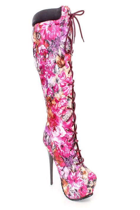 pink high heeled boots pink high heel boots fs heel