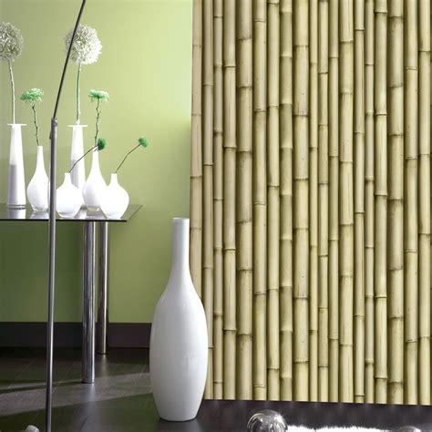 Wallpaper Sticker Motif Bambu Hijau muriva bamboo wallpaper j22317 brown bluff wood effect