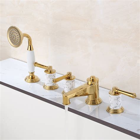 antique bathtub faucet antique polished brass pocelain decoration bathtub shower