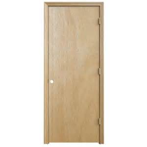 Home Depot Pre Hung Interior Doors Jeld Wen 30 In X 80 In Woodgrain Flush Unfinished Hardwood Split Jamb Single Prehung Interior