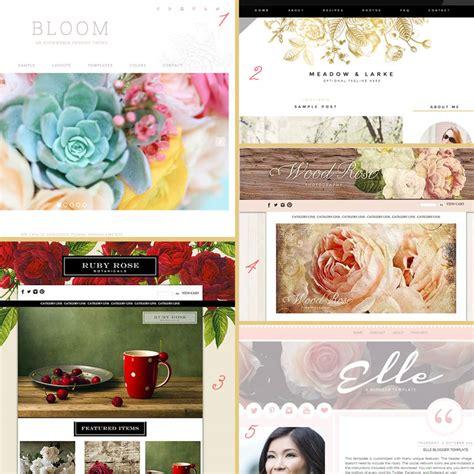 blog layout trends 2015 blog design trends floral botanical design your own