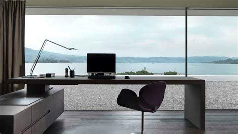 minimal work desk swiss fine line minimalist workspace with ocean views