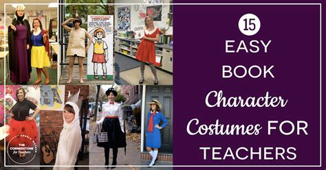 easy book character costumes  teachers