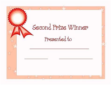 1st place award certificate templates certificate234