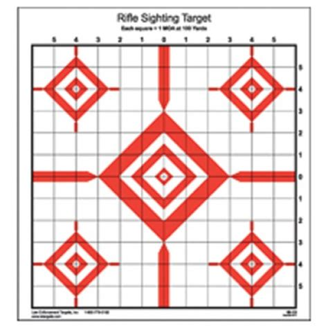 printable targets for sighting in a rifle rifle zero targets free
