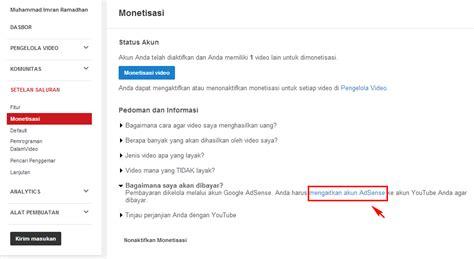 cara membuat akun adsense melalui youtube cara mudah diterima google adsense melalui akun youtube
