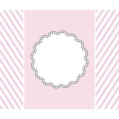 pink template design for greeting card vector free download