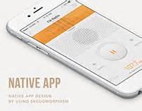 design native app mbc official radio app mini on behance