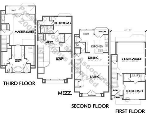3 story townhouse floor plans quotes three story townhouse floor plan with mezzanine