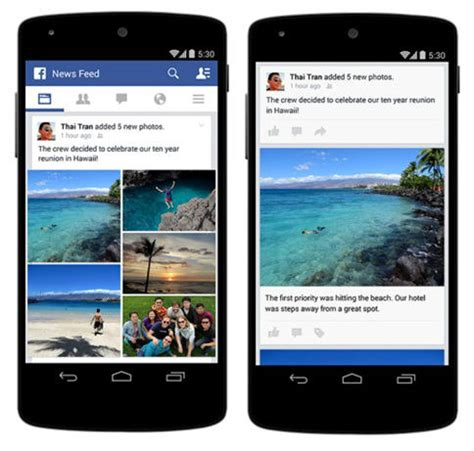 facebook layout on iphone improvements to photo posts on mobile on facebook technuter