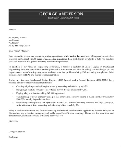 sample engineering cover letter templates