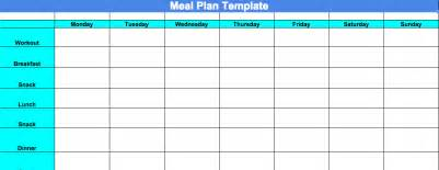 Blank Meal Plan Template by Committed To Get Fit Week 4 Progress Update And Chalean