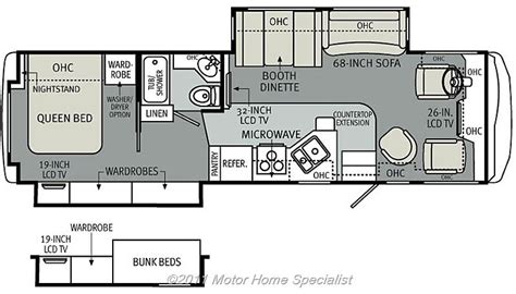 motorhome floor plans class a 2013 diesel rv with bunk beds autos post