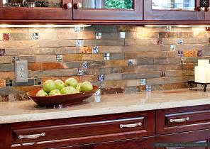 Kitchen With Mosaic Backsplash by Slate Mosaic Brown Rusty Kitchen Backsplash Tile
