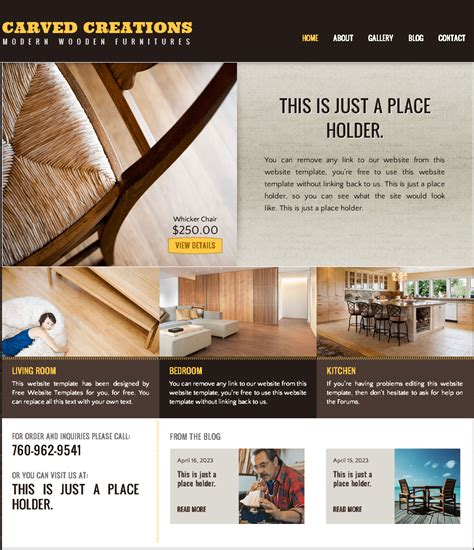 woodworking website template wood working template