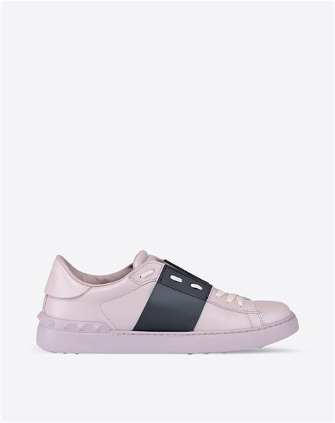 valentino sneakers mens valentino open low top sneaker in pink for lyst