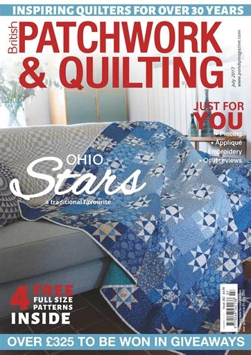 Patchwork And Quilting Magazine - patchwork and quilting magazine july 2017 subscriptions