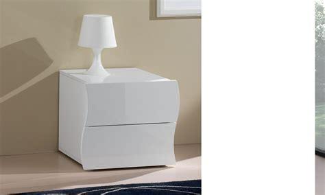 meuble chevet design table de chevet 2 tiroirs blanc laqu 233 design swell