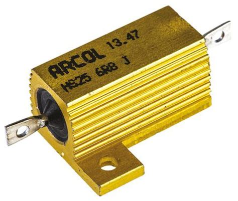 arcol resistors uk hs25 6r8 j arcol hs25 series aluminium housed axial panel mount resistor 6 8ω 177 5 25w arcol