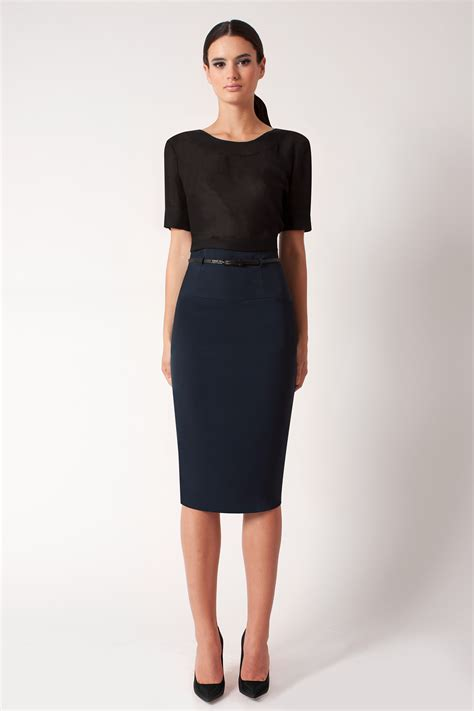 High Waist by Black Halo High Waist Pencil Skirt Exclusive In