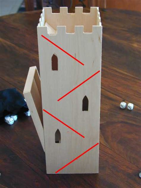 Tower Of Dices By Cm dice tower a light construction project