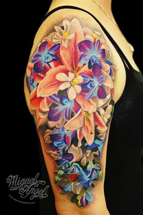 tattoo sleeve singapore singapore lilies tattoo tattoo and tatting