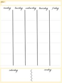 weekly calendar print out weekly calendar template