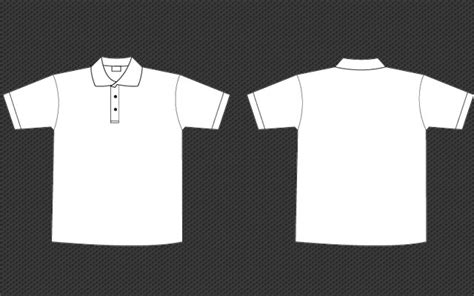 polo collar tee template free download t shirt template