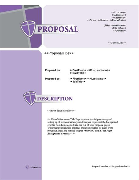 design proposal title proposal pack security 3 software templates sles