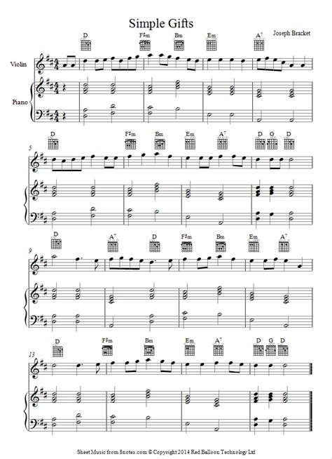 simple gifts of simple gifts appalachian shaker song sheet for