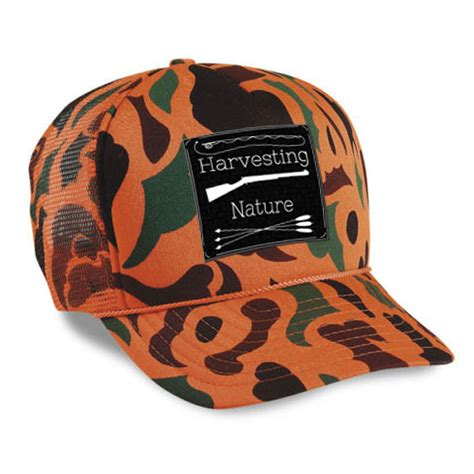 blaze orange camo hat new product camo blaze orange hat harvesting nature