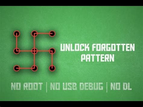 unlock your android pattern without root debugging how to unlock pattern lock on android 2017 youtube