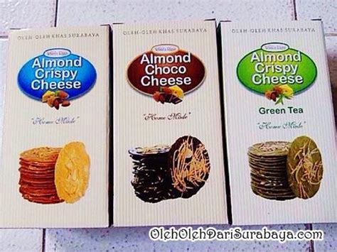 Paket Almond Crispy Cheese 3 Pcs Original Green Tea Chocolate lihat harga wisata rasa almond crispy cheese choco green