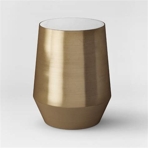 white marble and metal accent table mawr metal accent table white marble gold project 62
