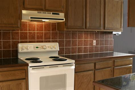 granite tile countertop w terracotta backsplash solar