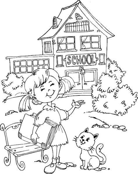 coloring page school first day of school coloring pages for kindergarten