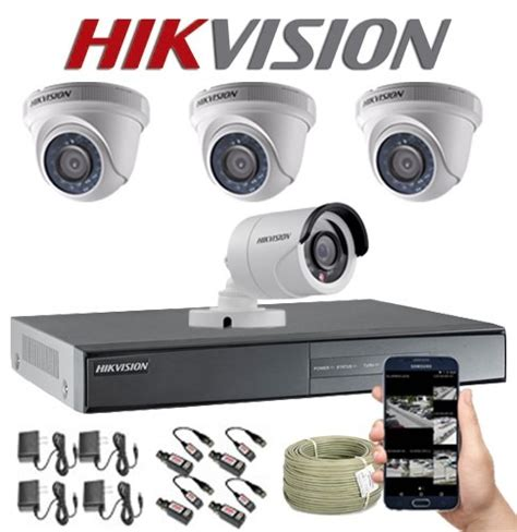kit camaras de seguridad kit hikvision turbo hd cctv dvr 8c 4 camaras de
