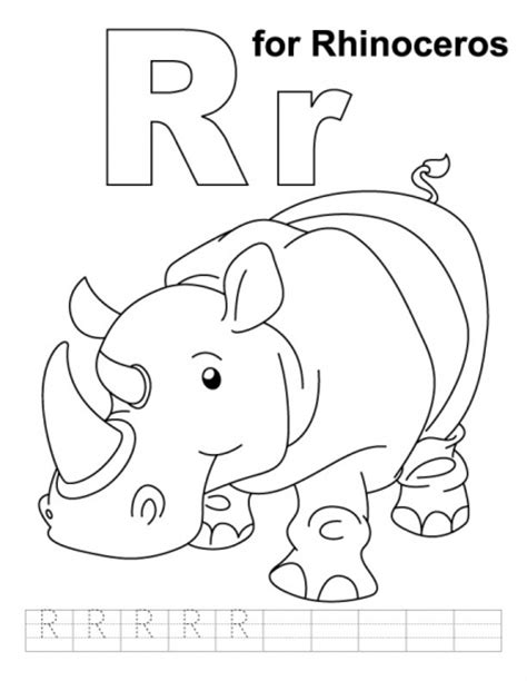Letter Rr Printable Coloring Pages Kids Coloring Pages Easy Coloring Pages For ToddlerslL